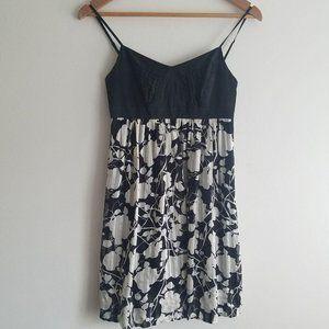 BCBG Petites Black White Silk Party Dress 2P